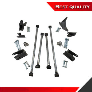 Suit 33 34 Ford Triangulated Rear 4 Link Bar Kit Raw Steel