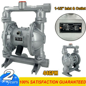 Air operated Double Diaphragm Pump 44gpm 1 1 2 Inlet Outlet Petroleum Fluids