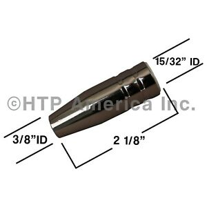 3 Htp Small Tapered Conical Gas Nozzles For Harbor Freight Titanium Welders