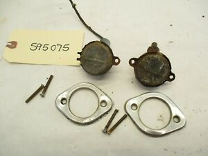 1960 Chevy El Camino Or Wagon License Plate Lights Bezels L r Oem