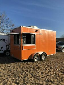 Very Clean 2017 7 X 14 Lark Cargo Food Concession Trailer used Mobile Food Uni