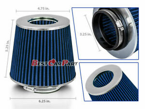 Blue 3 25 82 5mm Inlet Cold Air Intake Cone Replacement Quality Dry Air Filter