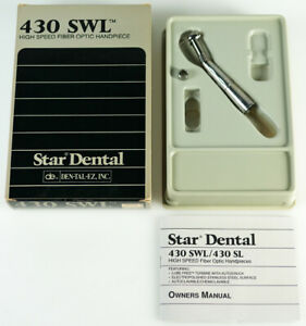 Star 430 Swl Fiber Optic High Speed Stainless Handpiece Retail 949 99 Boxed
