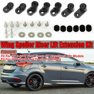Spoiler Wing Riser Extension Lift Bracket For Ford Focus St Hatchback 4dr 13