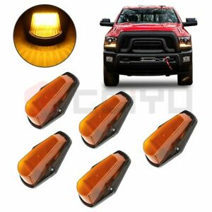 5x Yellow 12 Led Cab Marker Top Light For Ford F 150 F 250 F350 1980 1997