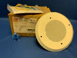 Federal Signal T 50gcb 120 Selectone Speaker Amplifier Round Ceiling Mount Beige