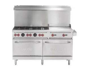 Vulcan Sx60f 6b24gn Sx Series Natural Gas 6 Burner 60 Range With 24 Manual Gri