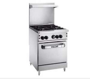 Vulcan 24s 4bn Endurance Natural Gas 4 Burner 24 Range With Standard Oven Base