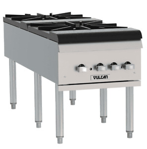 Vulcan Vsp200f Natural Gas 2 Burner Countertop Stock Pot Range 220 000 Btu