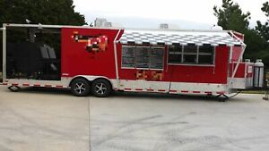2014 Freedom Trailers 8 5 X 30 Barbecue Food Trailer mobile Food Unit For Sale
