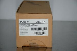 Pyrex 7077 1n 1ml Glass Serological Pipettes Sterile 200 pack