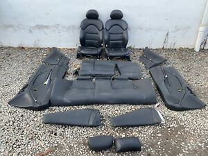 2001 2006 Bmw E46 M3 Coupe Original Black Interior Complete Seats Panels
