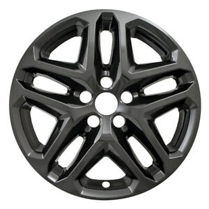 One Wheel Skin Cover Fits 2013 2016 Ford Fusion 17 Gloss Black 5 Double Spoke