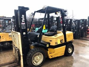 2006 Yale Forklift 8 000 Lbs Gp080 Pneumatic Type Tires