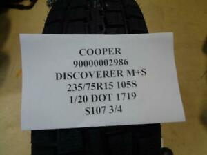 4 New Cooper Discoverer 235 75 15 105s Tires Wo Label 90000002986 Q9