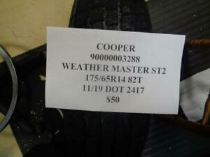 1 New Cooper Weather Master St2 175 65 14 82t Tire Wo Label 90000003288 Q9