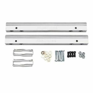 Edelbrock 3630 Fuel Injection Fuel Rail Kit 6 An Clear For Chevy Small Block