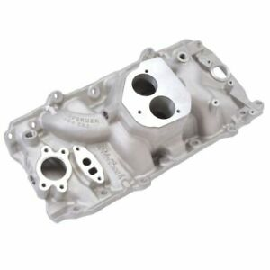 Edelbrock 3764 Performer Aluminum 454 T B I Intake Manifold For Chevy Big Block