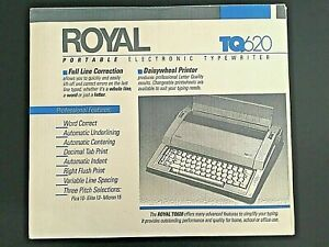 New Vintage Ta Royal Tq620 Portable Electronic Typewriter Daisywheel Printer