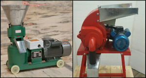 4hp Pellet Mill 3hp Hammer Mill Electric Combo Free Shipping Usa In Stock
