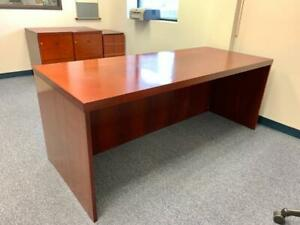 Cherrywood Executive Desk 2 Matching Filing Cabinets