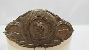 Original 1920 S 1930s Vintage Auto Visor St Christopher Guide Ford Chevy Gm