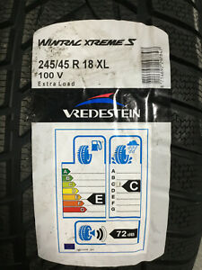 2 New 245 45 18 Vredestein Wintrac Xtreme S Snow Tires