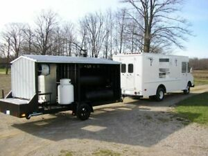 Turnkey 18 Gmc 6500 Barbecue Food Truck With Custom built Bbq Pit Trailer For S