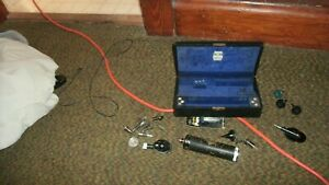 Vintage Welch Allyn Ophthalmoscope Set Case Usa Made Stainless W Case Clean