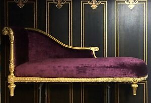 Louis Xvi Style French Empire Lounge Chaise