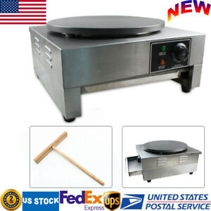 16 Commercial Nonstick Electric Crepe Maker Pancake Machine Single Hotplate 3kw