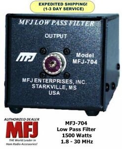 Mfj 704 Low Pass Tvi Filter 2 30mhz Handles 1500 Watts From 1 8 To 30 Mhz