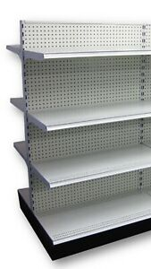 Shelves Not Included shelving 48 And 36 Gondola Double Sided