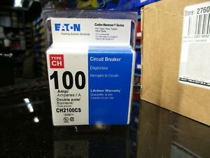 New Sealed Eaton Type Ch 100 amp 2 pole Circuit Breaker Ch2100cs