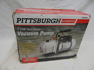 Pittsburgh 60805 3 Cfm Tow Stage Vacuum Pump Free Shipping No Reserve gr139