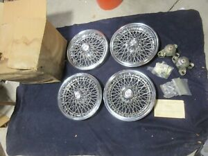 Nos Set Of 4 14 1981 1988 Chevrolet Monte Carlo Wire Wheel Cover Hubcaps