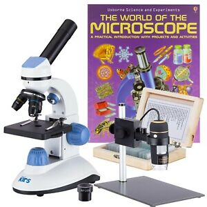 Iqcrew 2 Microscope Kit With Handheld Take Pictures videos Slide Kit Book
