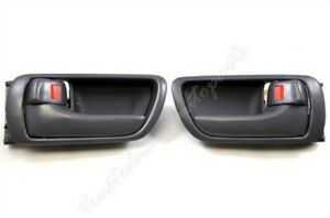 Fits 2002 To 2006 Toyota Camry Inside Interior Door Handle Gray Left Right Set