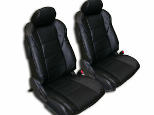 Nissan 350z 2003 2006 Black Iggee S Leather Custom Made Fit Seat Covers