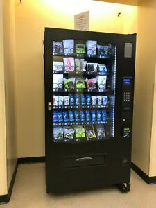 Seaga Inf5s Snack Vending Machine With Credit Card Reader Built In It