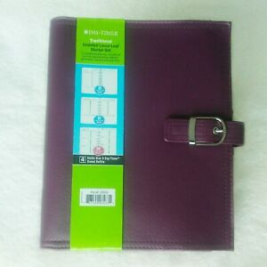 Daytimer Cover New Includes Filler Pages Burgandy Pink 9 5 X 8 Faux Leather