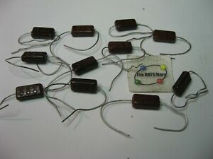 Assorted Silver Mica Domino Capacitor Grab bag Vintage Nos Qty 11