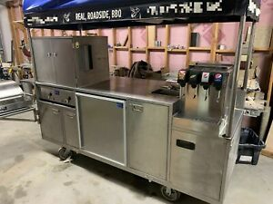 All Stainless Steel 3 X 8 Sierra Carts Class B Bbq Food Vending Cart For Sale