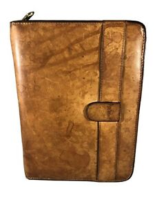 Vtg Hartmann Distressed Leather Compact Planner Organizer 6 1 25 Rings