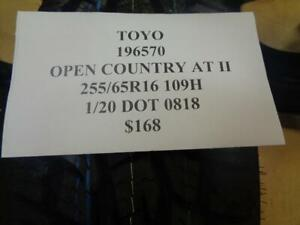 1 New Toyo Open Country At Ii Tire Wo Label 196570 Q0