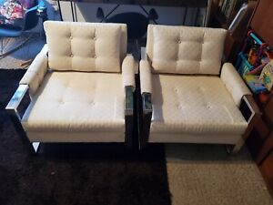 2 Vintage Adrian Pearsall Lounge Chair Chrome Rosewood Mid Century Baughman Era