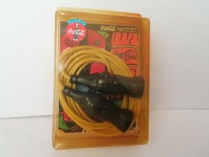 1996 Coca Cola 9 Foot Adjustable Jump Rope With Coke Handles NEW IN PACKAGE