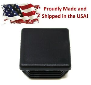 Universal Plastic 1 1 2 Inch Black Square Tubing Cap Finishing Plug Chair Glide