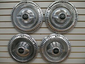 1965 Buick Riviera Spinner Wheelcover Wheel Covers Hubcaps Oem Set 65