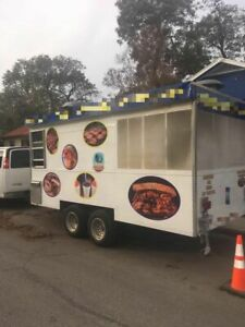 2013 7 5 X 16 Barbecue Food Trailer With Enclosed Screened Porch used Bbq Pi